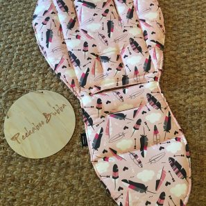 Pink arrow feathers pram liner min e1500522780140 297x297 - Feather & Arrow Pink Custom Fit Pram Liner (premium fabric print)