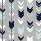 OUT OF STOCK Arrow mint navy on grey (premium print fabric)