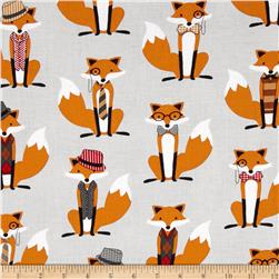 Dapper fox light grey (regular fabric)