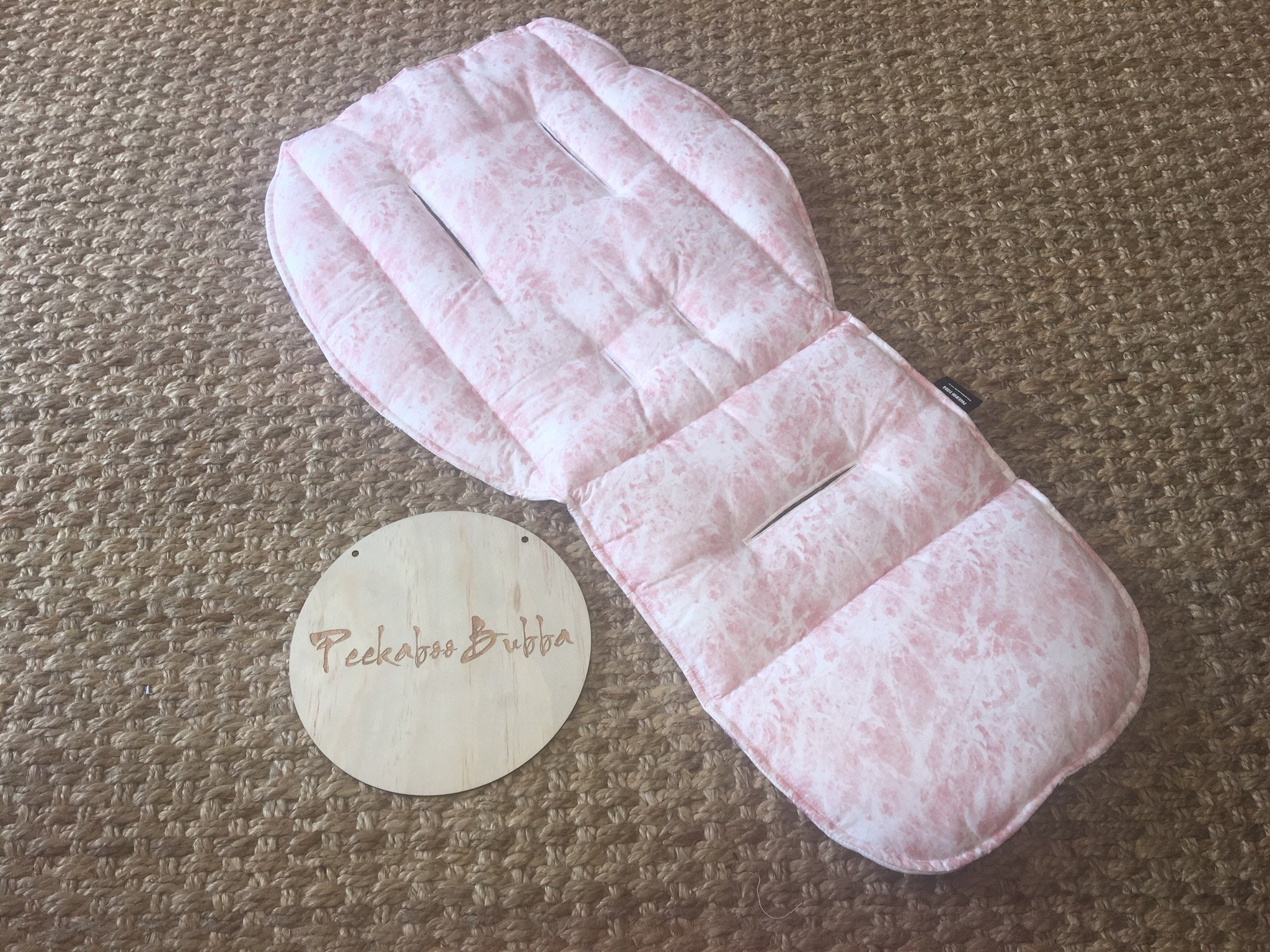 image4 - Marble dusty Pink Custom Fit or Universal Pram Liner (Premium fabric)