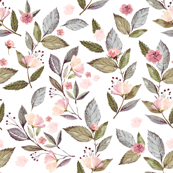 OUT OF STOCK Floral leaves (premium fabric)