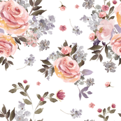Floral rose and leaves (premium fabric)
