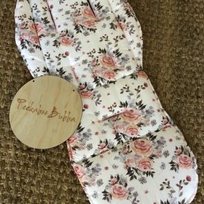 Floral roses leaves premium fabric 297x297 - Floral roses & leaves Universal or Custom Fit Pram Liner (premium fabric)