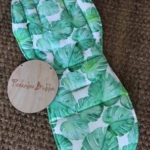 Monstera leaf green premium fabric 297x297 - Monstera leaf green Universal or Custom Fit Pram Liner (premium fabric)