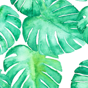 Monstera leaf green (premium fabric)