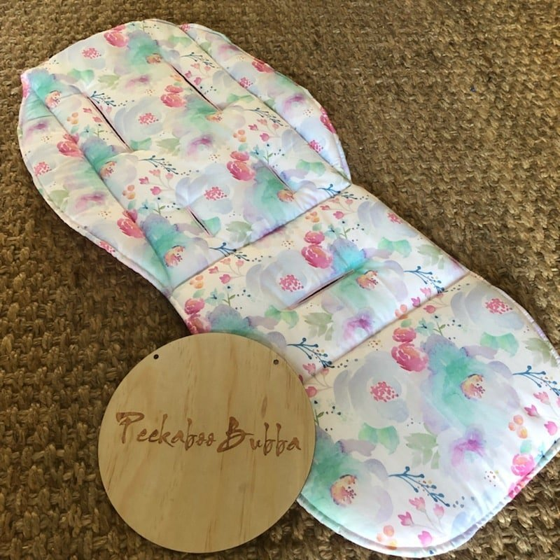Water colour floral premium fabric Universal or custom fit pram line - Water colour floral (premium fabric) Universal or custom fit pram liner