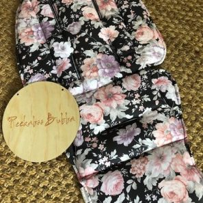 image2 1 297x297 - Blossom flowers charcoal custom fit or universal pram liner (regular fabric)