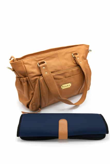 Y910 069 - Casey Leather Baby Bag- Tan ($299 for first 6 orders only)