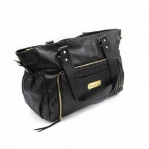 Y910 083 297x297 - Casey Leather Baby Bag- Black ( $299 for first 6 orders only)