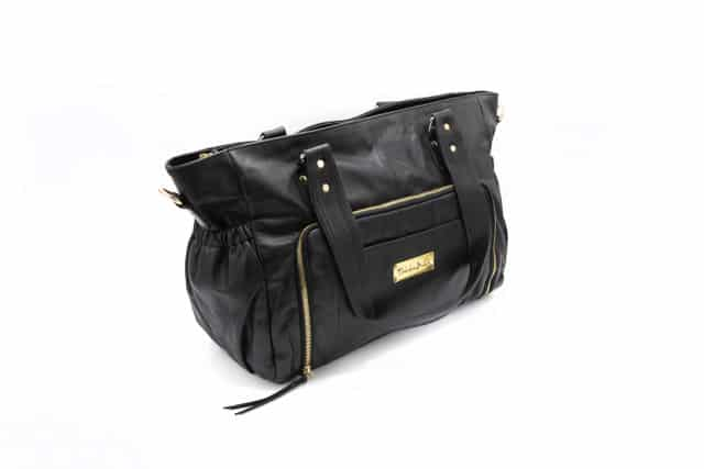 Y910 083 - Casey Leather Baby Bag- Black ( $299 for first 6 orders only)